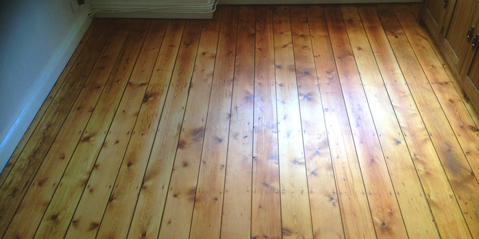 After-DINING ROOM OILED PINE BOARDS IN GOLDERS GREEN