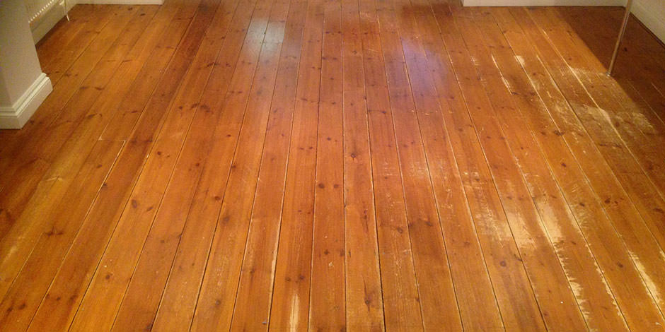 Before-DINING ROOM OILED PITCH PINE IN ENFIELD