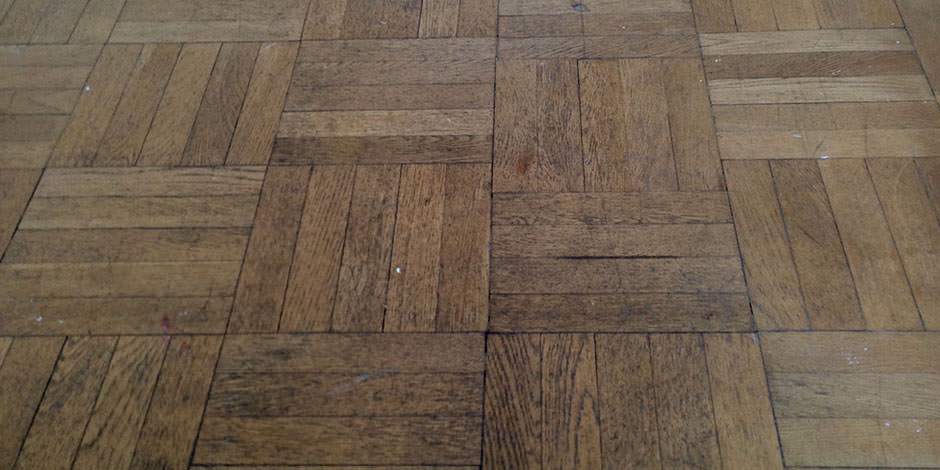 Before-HALLWAY OILED OAK PARQUET FLOOR IN BARNET
