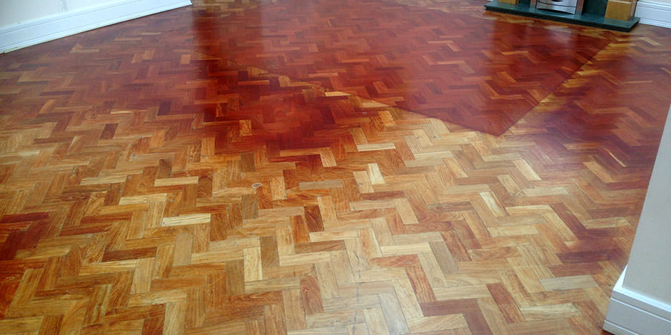 Before-LOUNGE OILED MERBAU PARQUET FLOORING IN FINSBURY