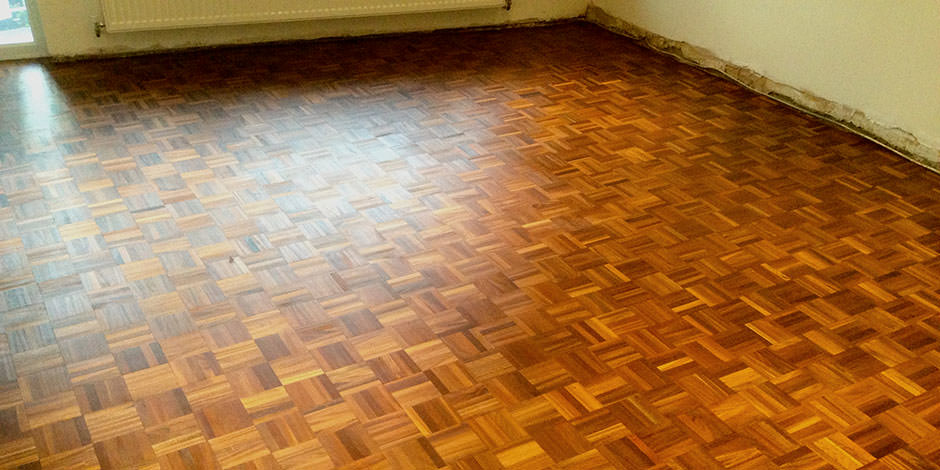 After-LOUNGE OILED TEAK PARQUET FLOOR IN STANMORE