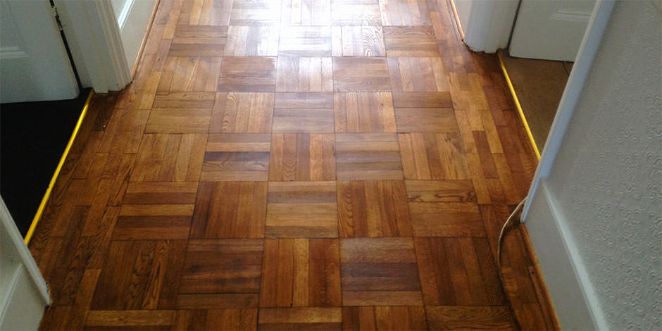 After-HALLWAY OILED OAK PARQUET FLOOR IN BARNET